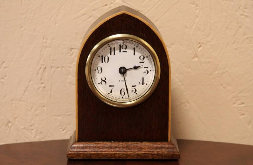 Sold Seth Thomas 8 Day Antique Desk Clock Harp Gallery