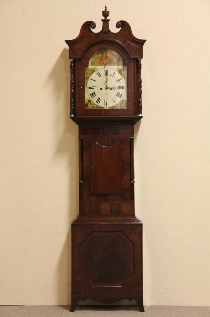 Sold Tall Case 1820 Antique English Grandfather Clock