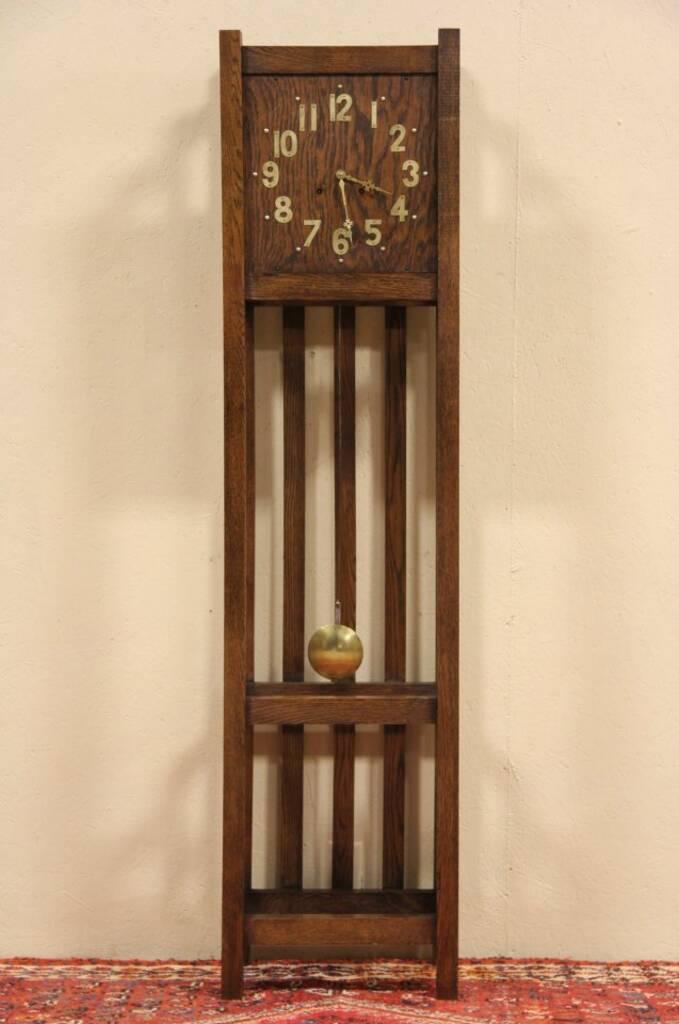 Sold Arts Amp Crafts Mission Oak Tall Case 1910 Antique