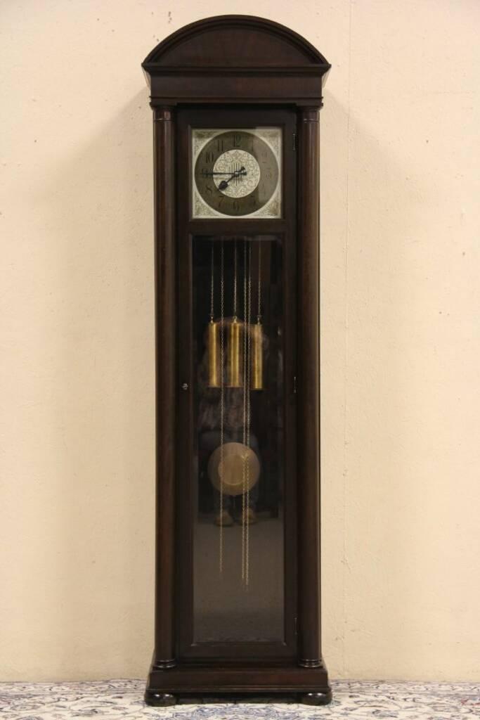Gustav Becker 1920 S German Tall Case Grandfather Clock