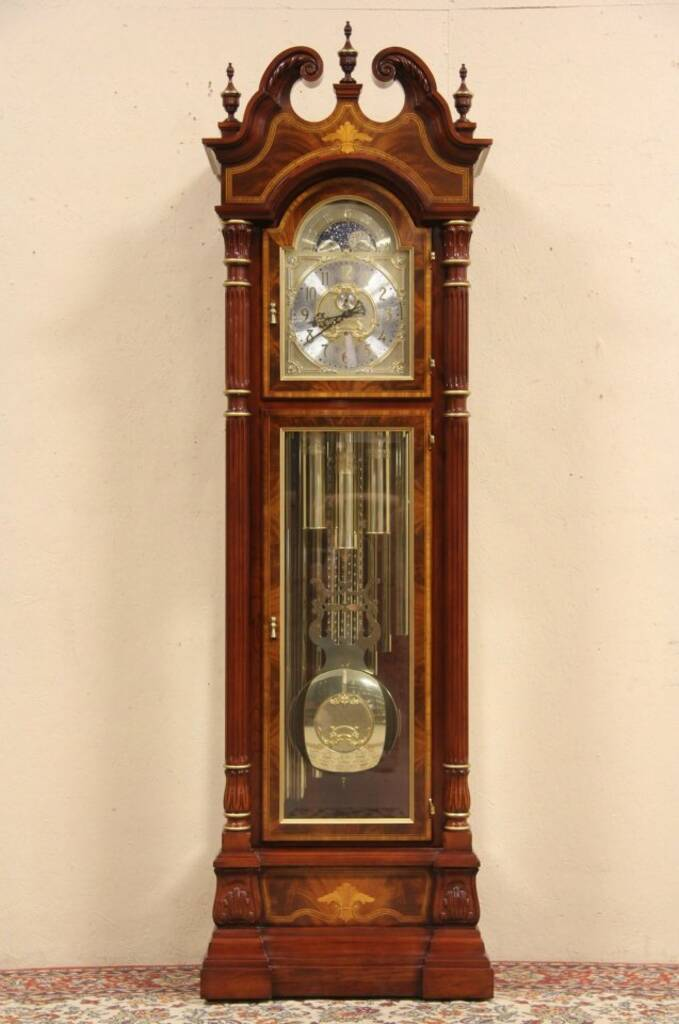 SOLD - Sligh Signed u0026 Numbered Grandfather Tall Case Clock ...