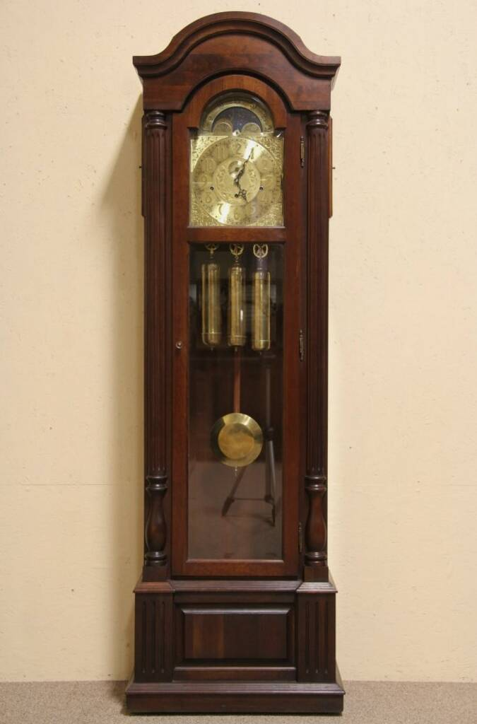 Sold Steinway Vintage Cherry Tall Case Grandfather Clock