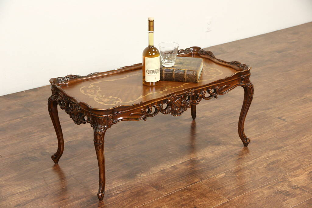 Sold French Style Carved 1940 S Vintage Coffee Table