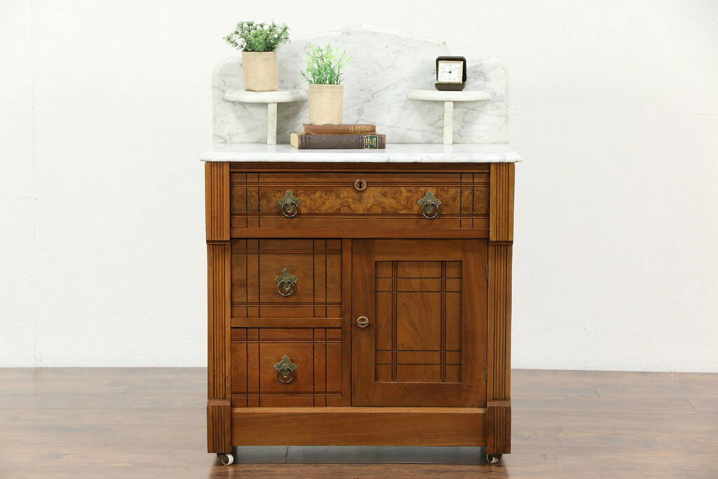 Sold Victorian Eastlake 1870 Antique Chest Washstand Or