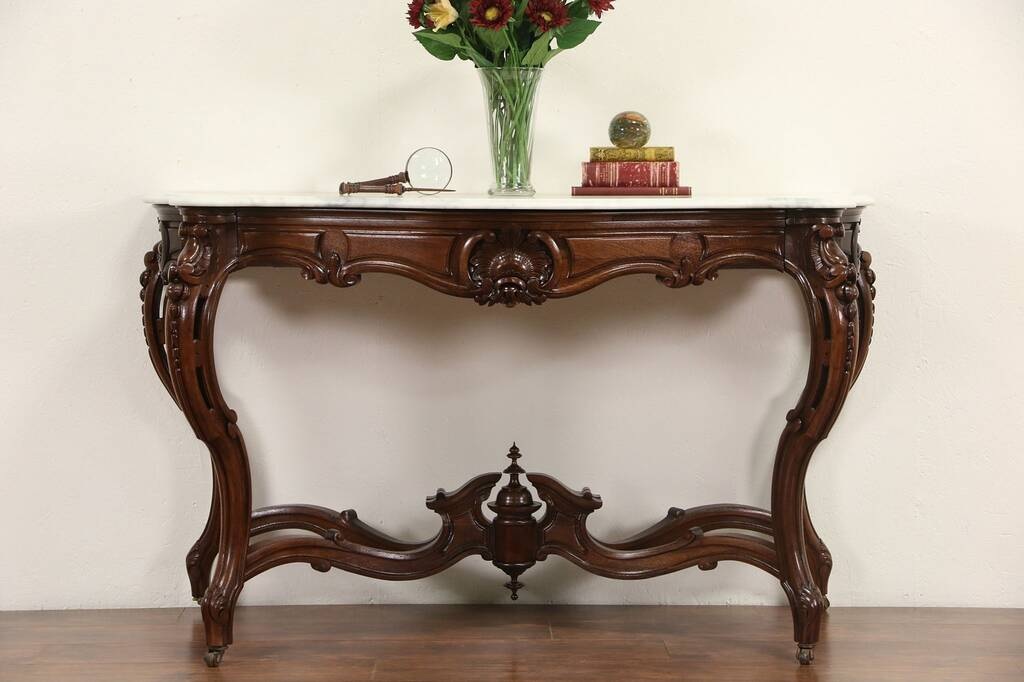 Sold French Rosewood Antique 1870 S Hall Console Table