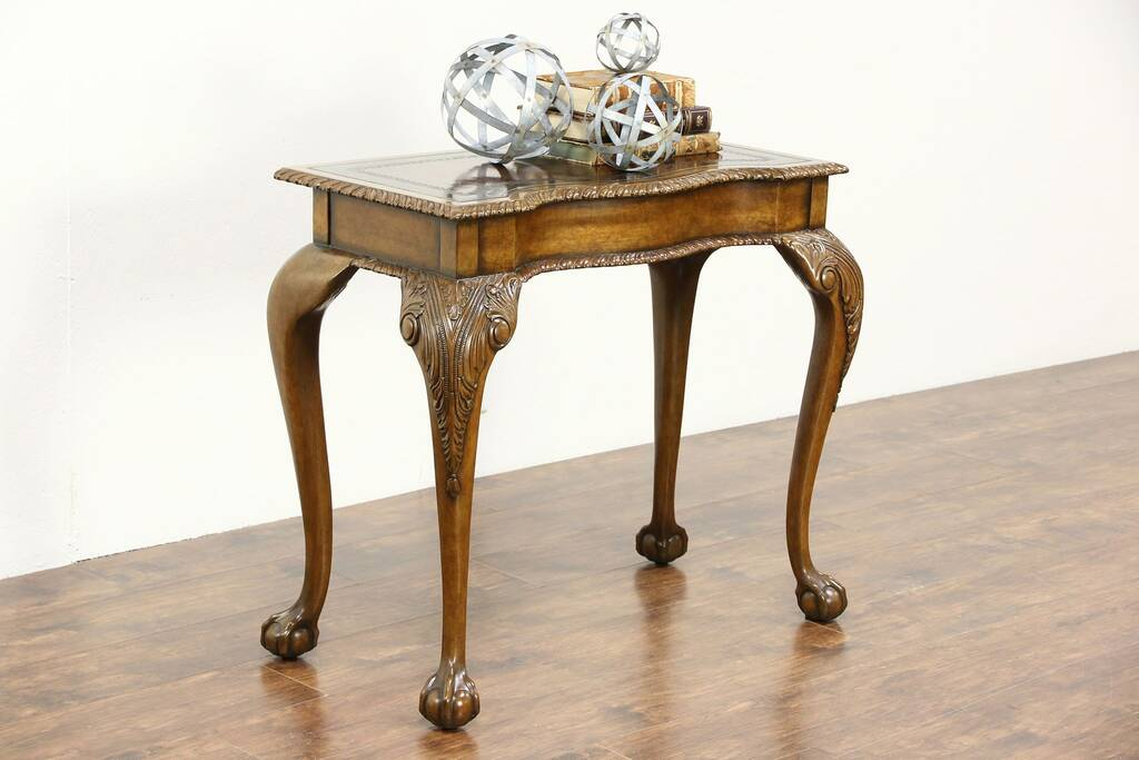 Maitland Smith Signed Vintage Carved Hall Console Table
