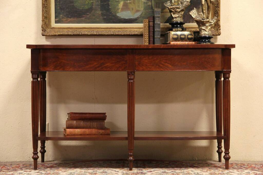 Sold sheraton antique 1825 console table wide tv for Wide sofa table