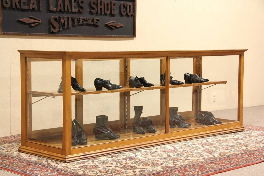 Store Display Or 8 39 Antique Showcase Signed Wausau Wis 1915 Ebay