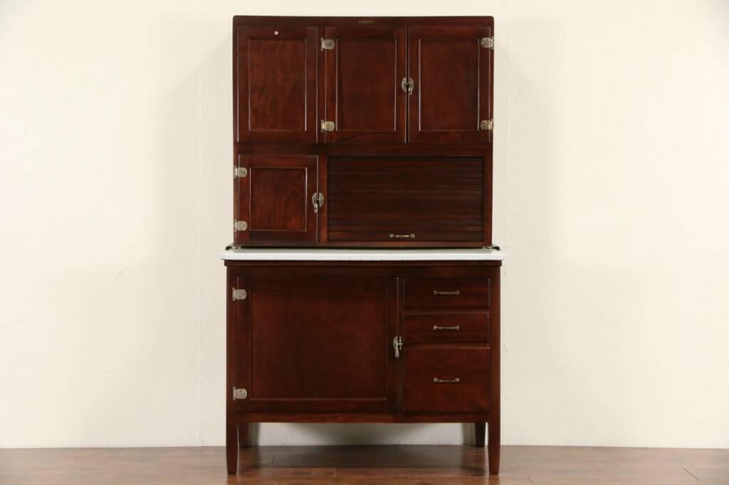 Sold Hoosier 1915 Antique Roll Top Kitchen Cabinet