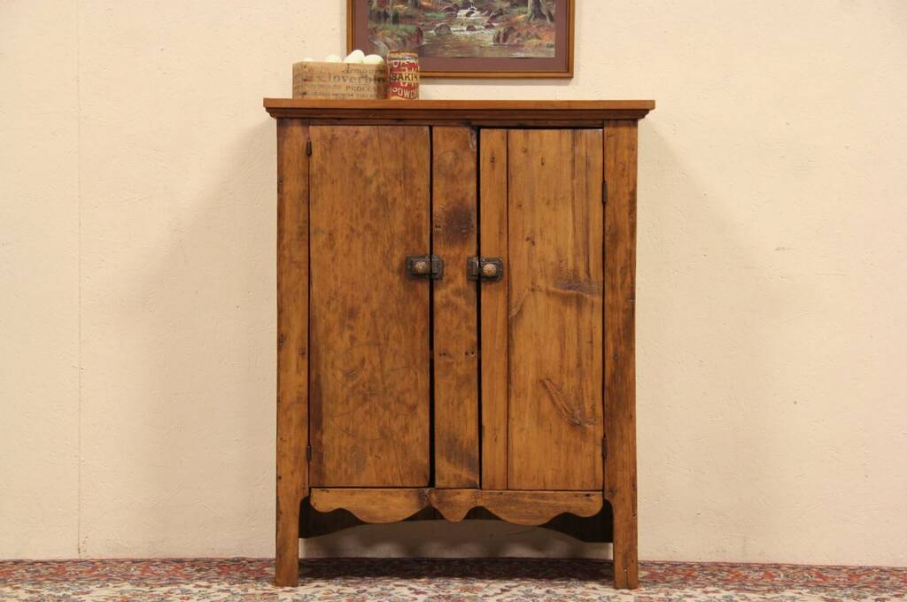 - Country Pine 1870 Antique Jelly Cupboard