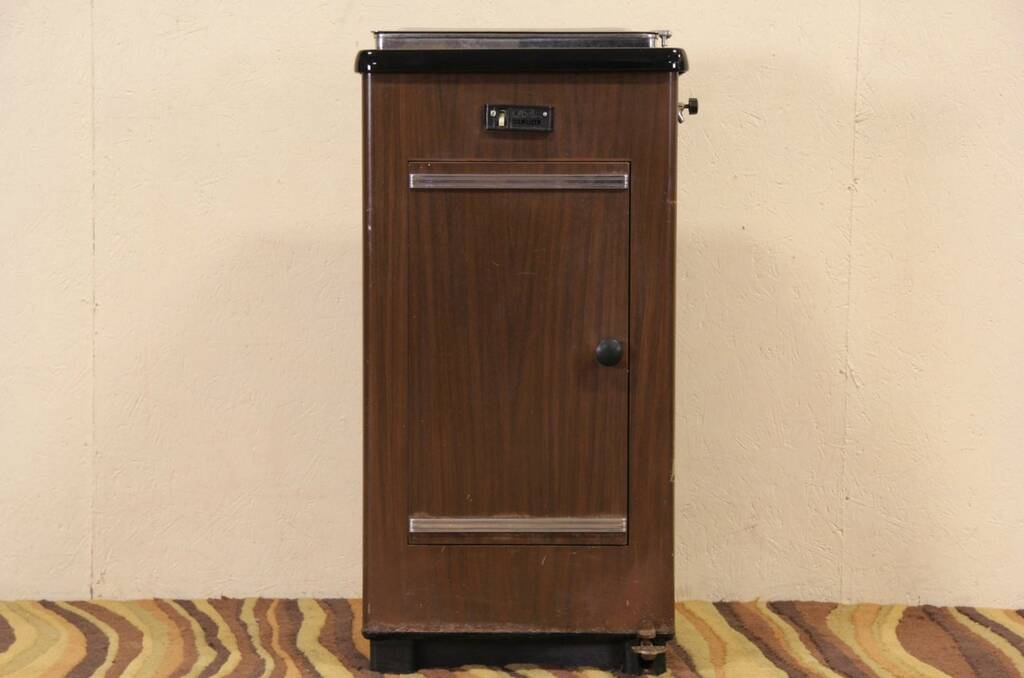 sold art deco 1940 39 s vintage medical or dental cabinet electric sterilizer harp gallery. Black Bedroom Furniture Sets. Home Design Ideas