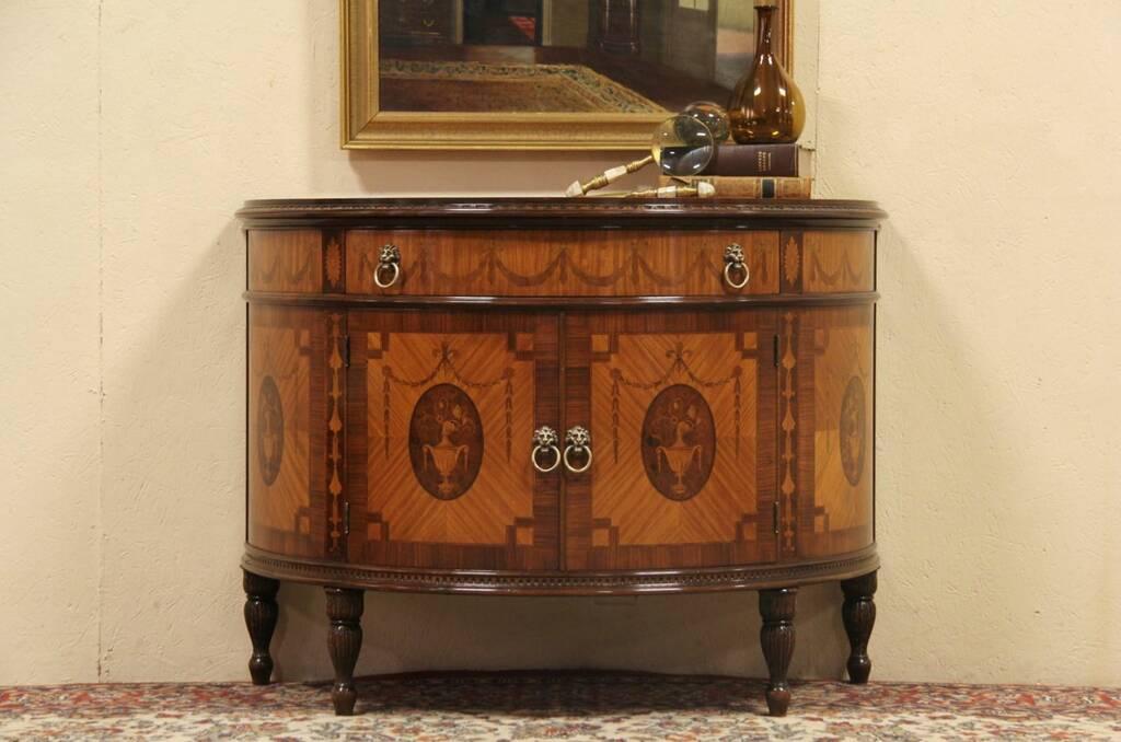 Sold Demilune Or Half Round 1930 S Console Cabinet