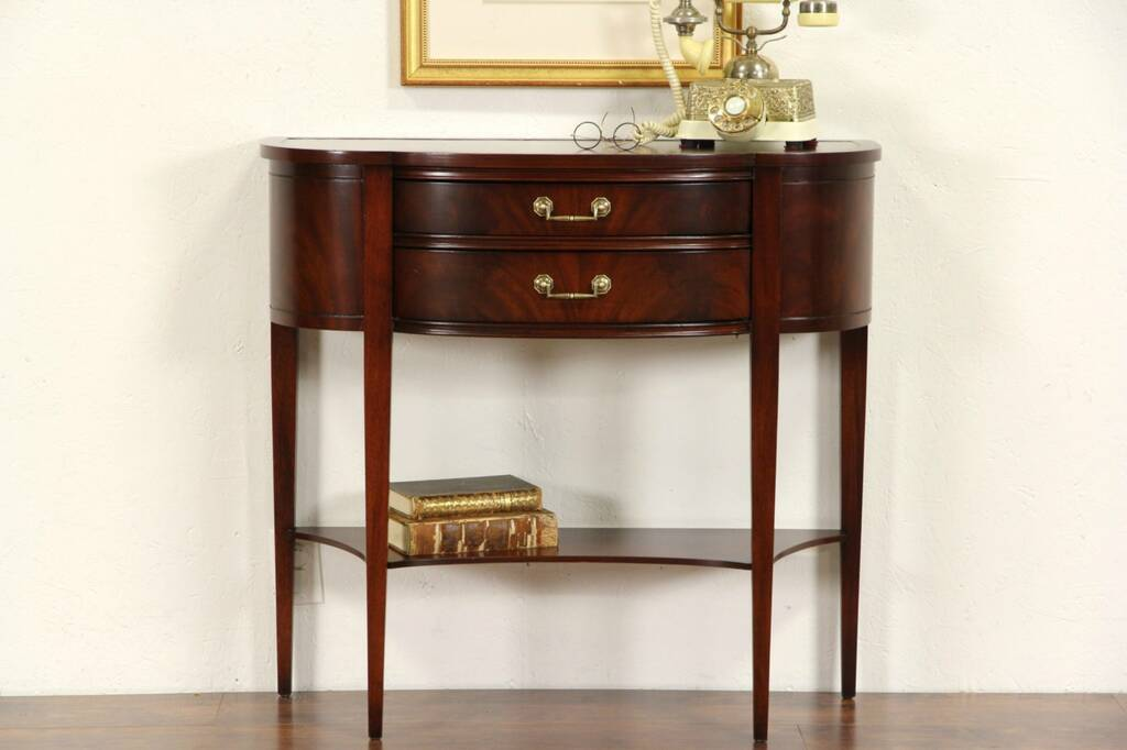 Sold Hall Console Table Vintage Demilune Half Round