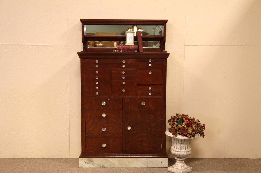 pictures of kitchens with cherry cabinets sold antique oak dental cabinet 20 drawers amp marble 9117