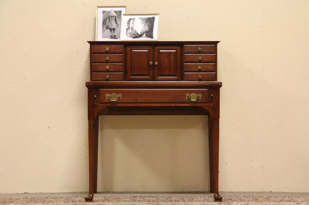 Sold Pennsylvania House 9 Drawer Cherry Desk Harp Gallery Antique Furniture