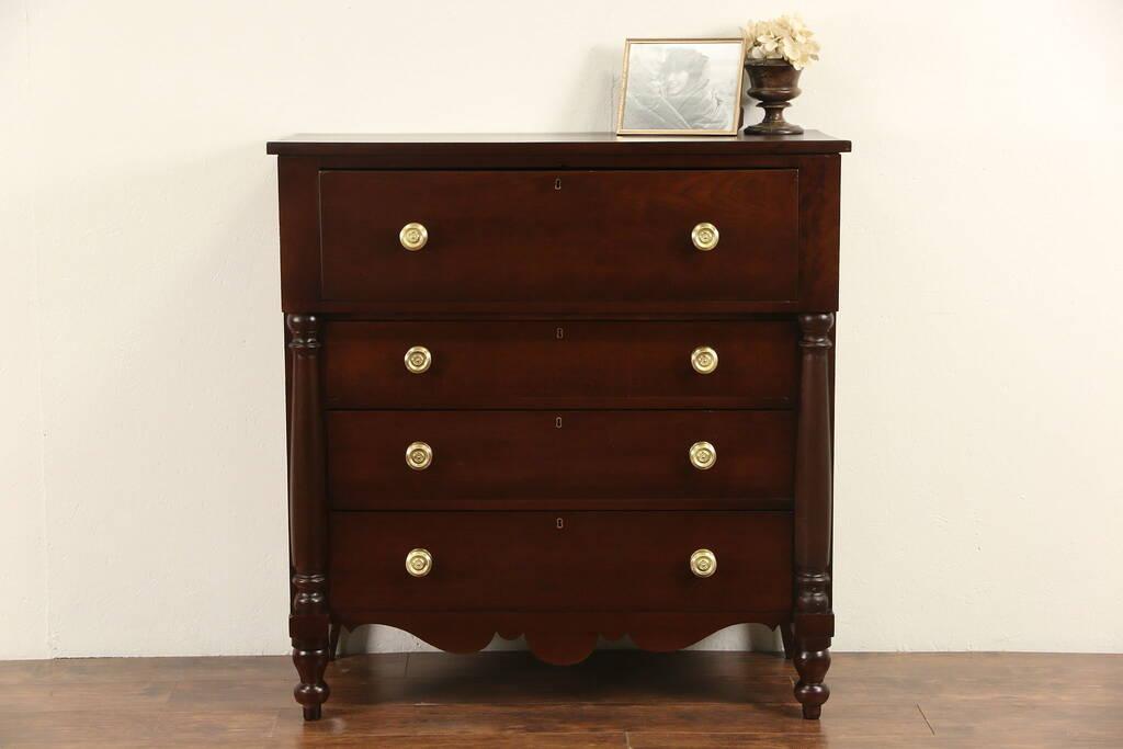 Sold Empire 1830 Antique Cherry Chest Or Dresser