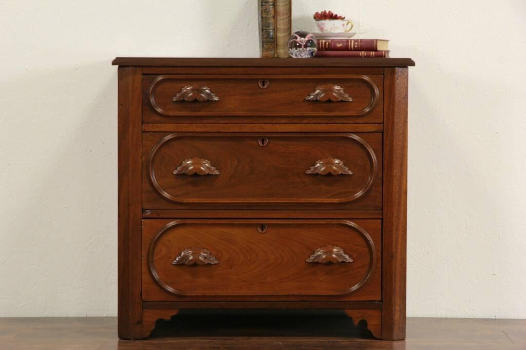 Sold Victorian 1870 S Antique Small Walnut Dresser