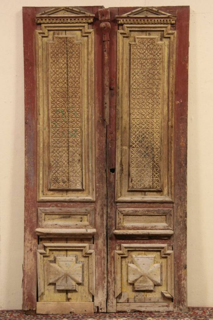 Sold Pair Of Architectural Salvage Carved Pine 1880