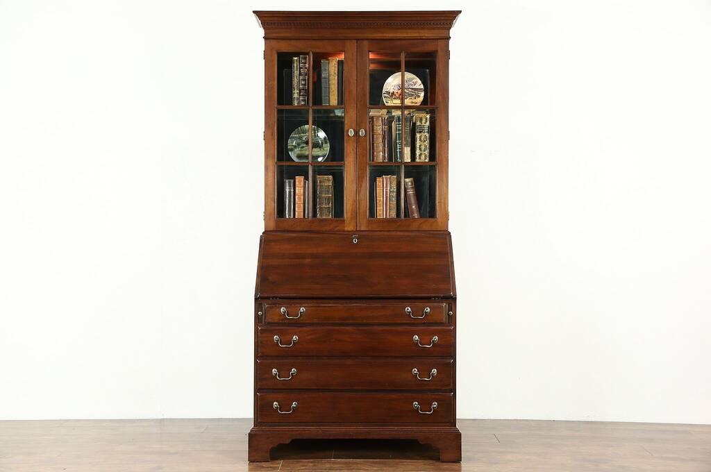 Sold Traditional Vintage Mahogany Secretary Desk