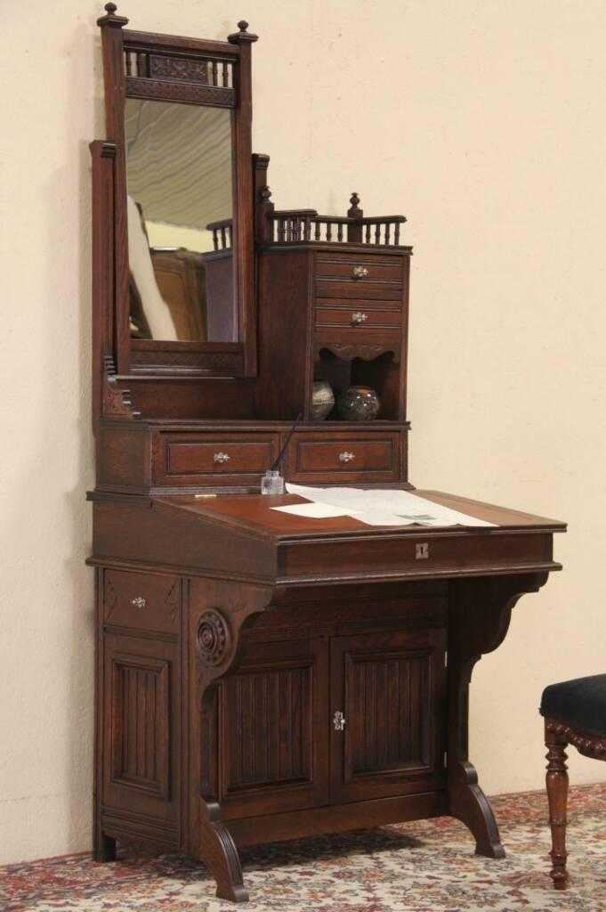 Sold Victorian Eastlake Secretary Antique 1875 Desk
