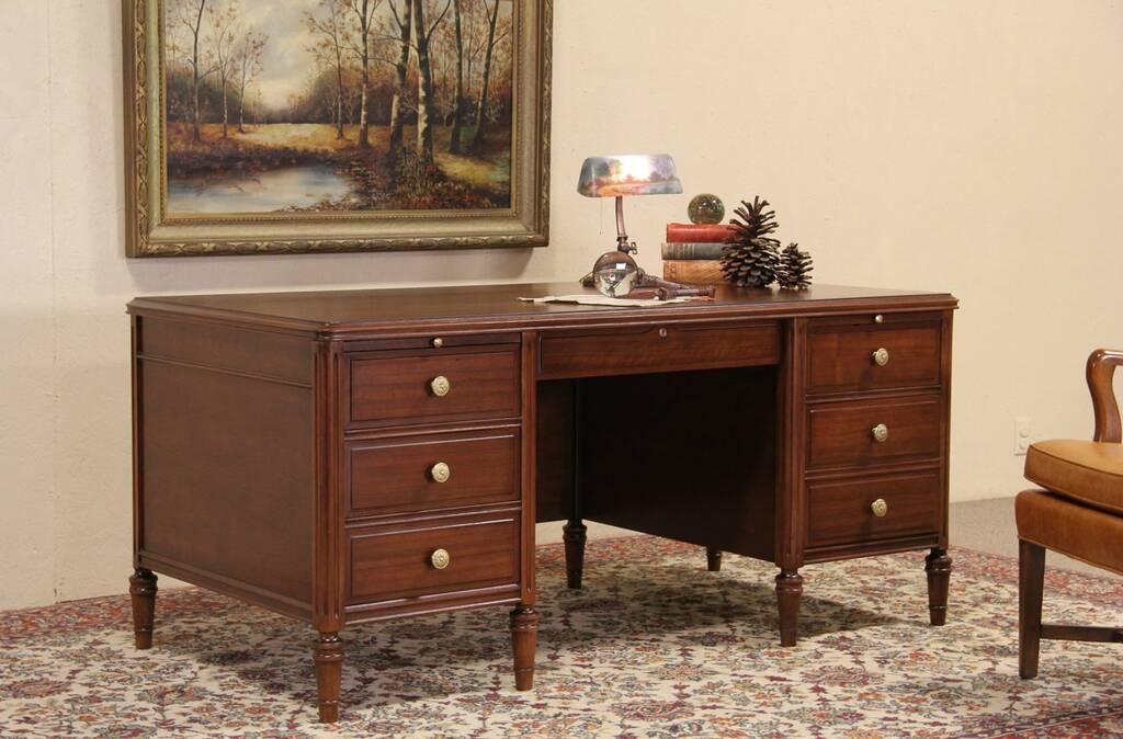 Sold Stow Davis 1930 Vintage Walnut Executive Desk File