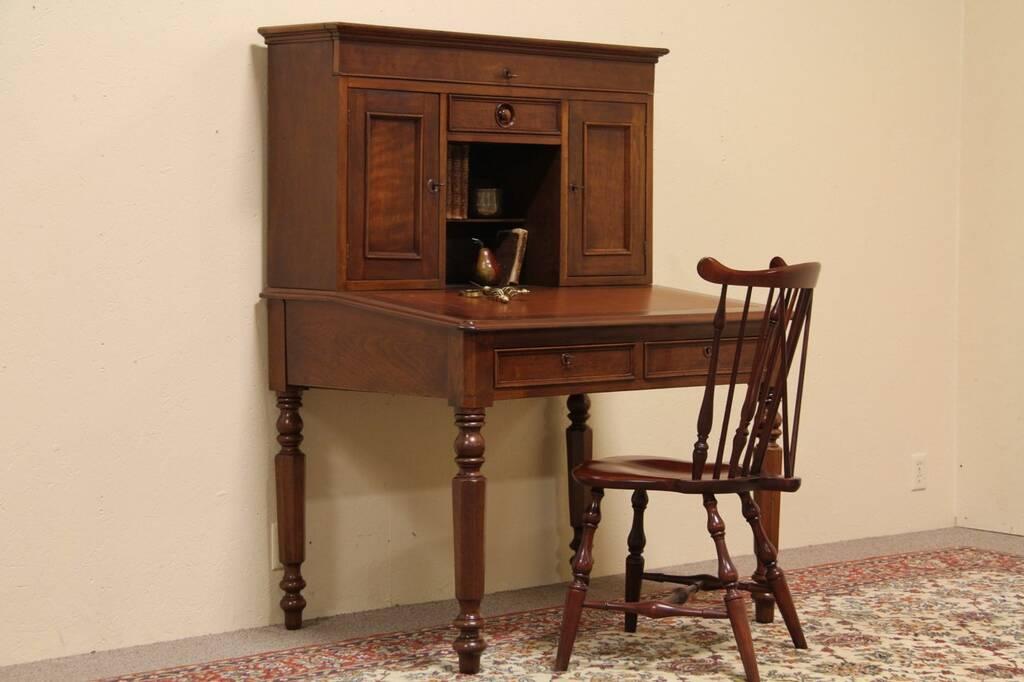 Sold victorian antique 1850 plantation desk harp for Plantation desk plans