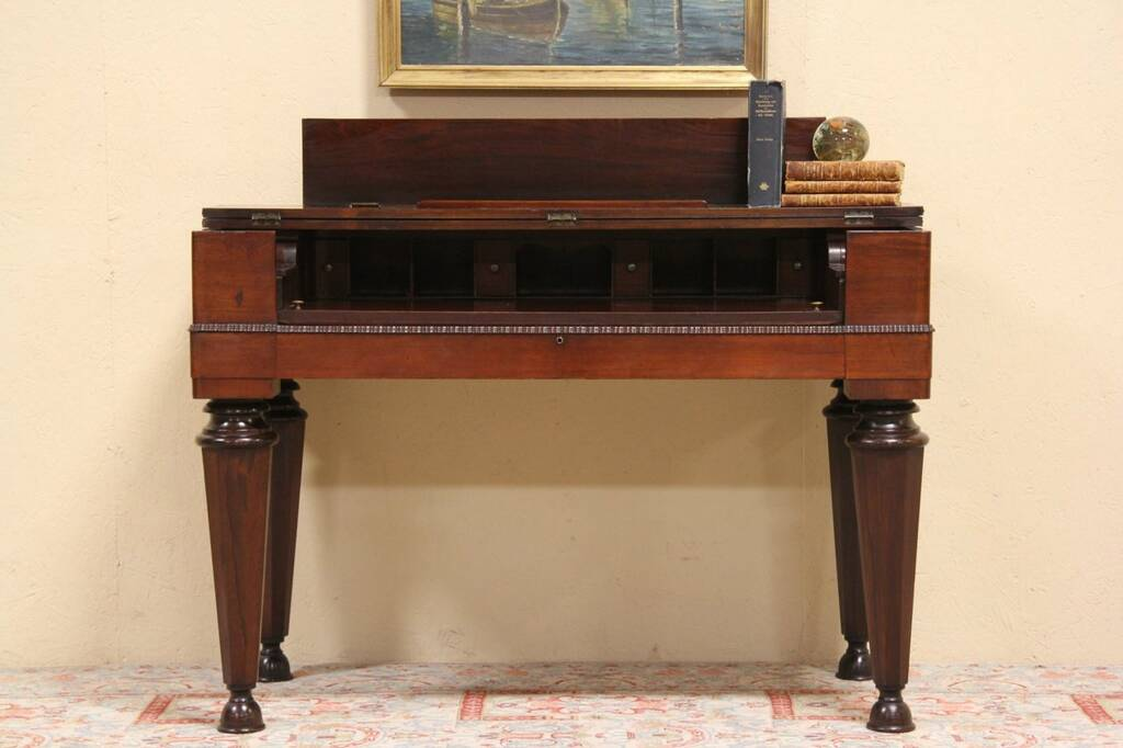 Sold Rosewood Console Or Spinet Desk Made From 1840