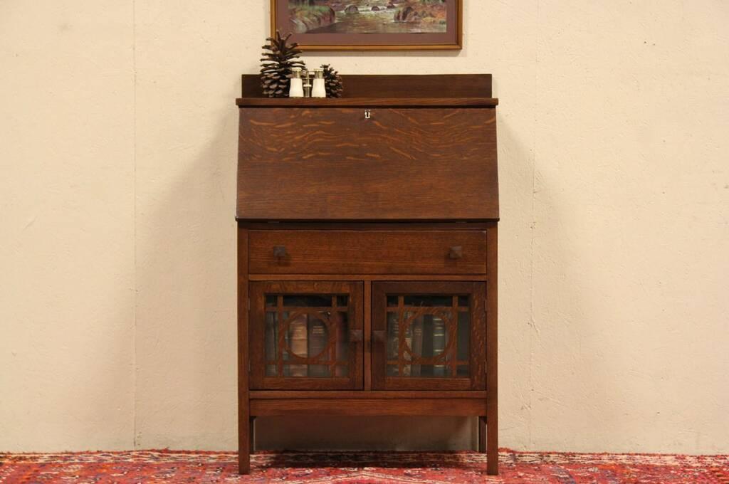 Sold Arts Amp Crafts Mission Oak 1905 Antique Secretary