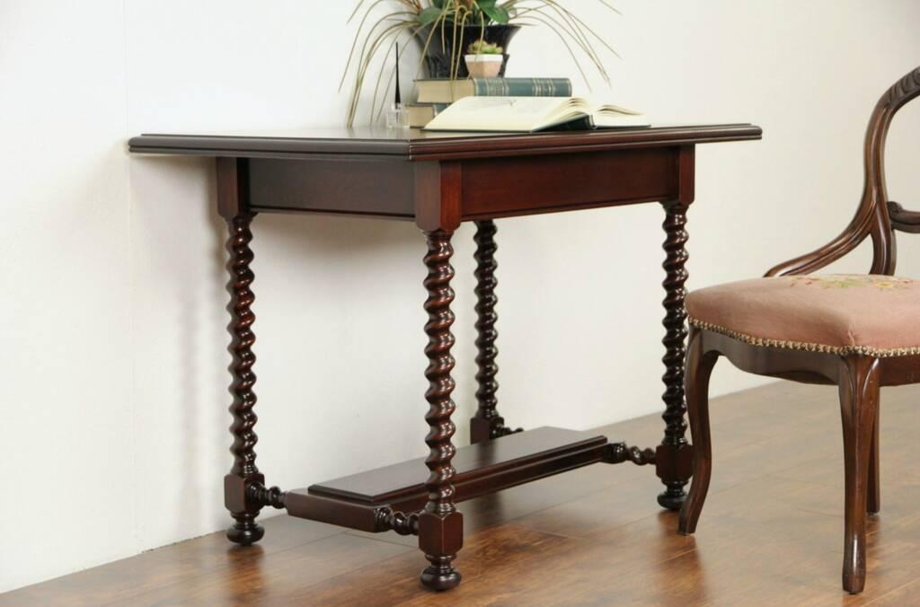 Sold Tudor 1915 Antique Mahogany Library Table Writing