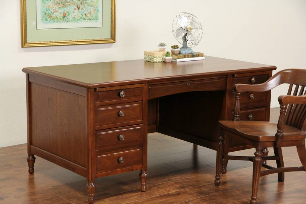 Sold Executive Library Or Office Desk 1930 S Vintage