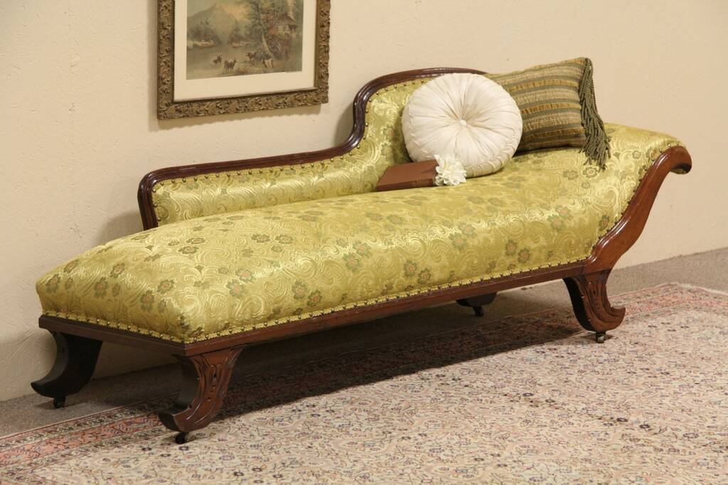Sold Recamier Lounge Or Antique Fainting Couch Harp