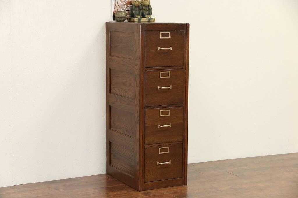 Sold Oak 1920 S Antique 4 Drawer Filing Cabinet