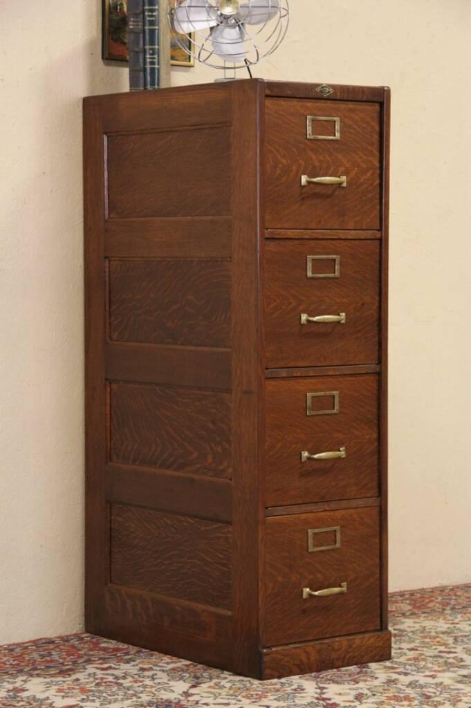 Sold Mead Amp Wheeler Chicago 1920 Oak 4 Drawer File