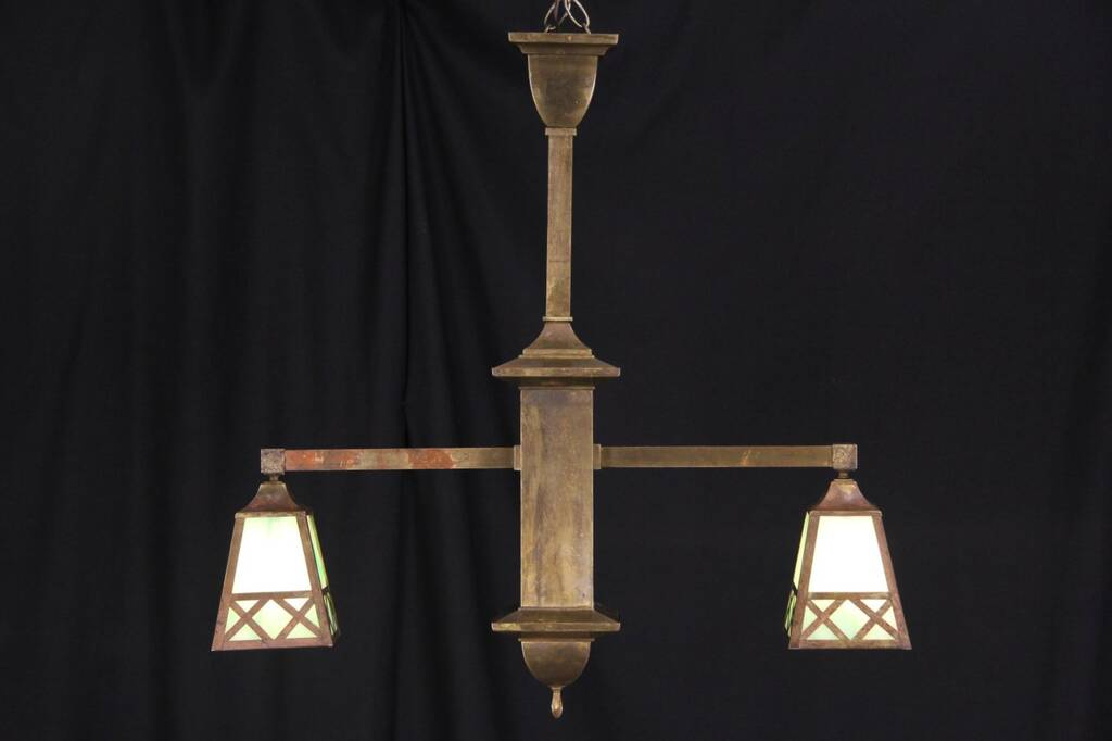 Sold Arts Amp Crafts Mission Double Pendant Light Island