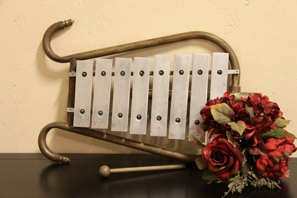 Sold Glockenspiel Bell Lyre Or Xylophone Harp Gallery Antique Furniture