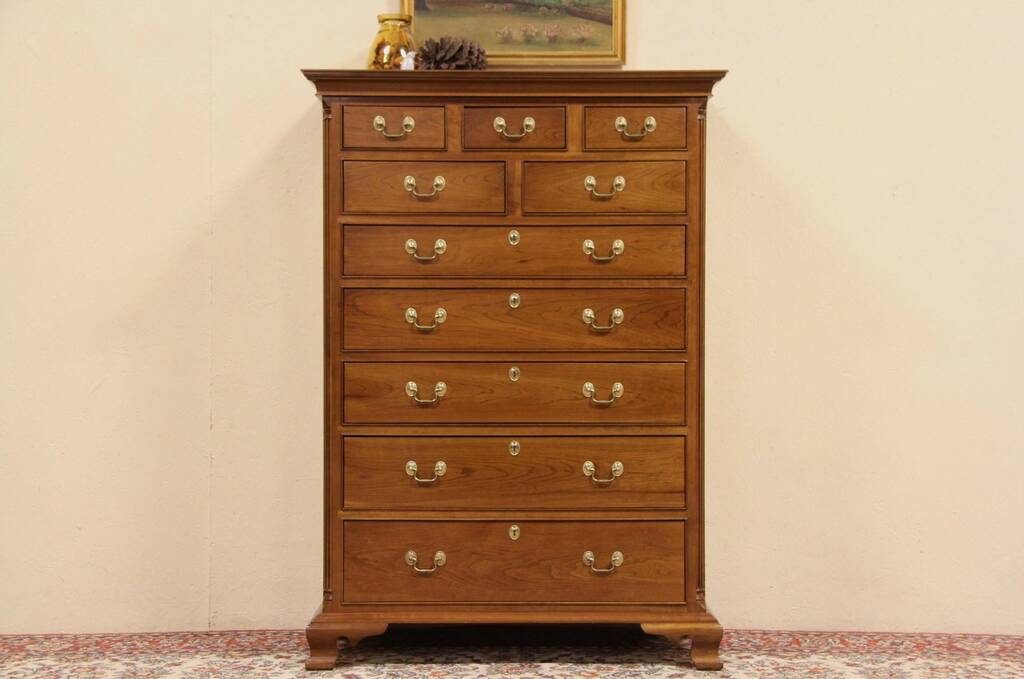 Sold Stickley Vintage Cherry Traditional Highboy Or Tall