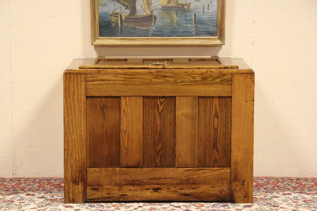 Sold Oak Amp Ash Antique 1900 Chest Ice Box Harp Gallery