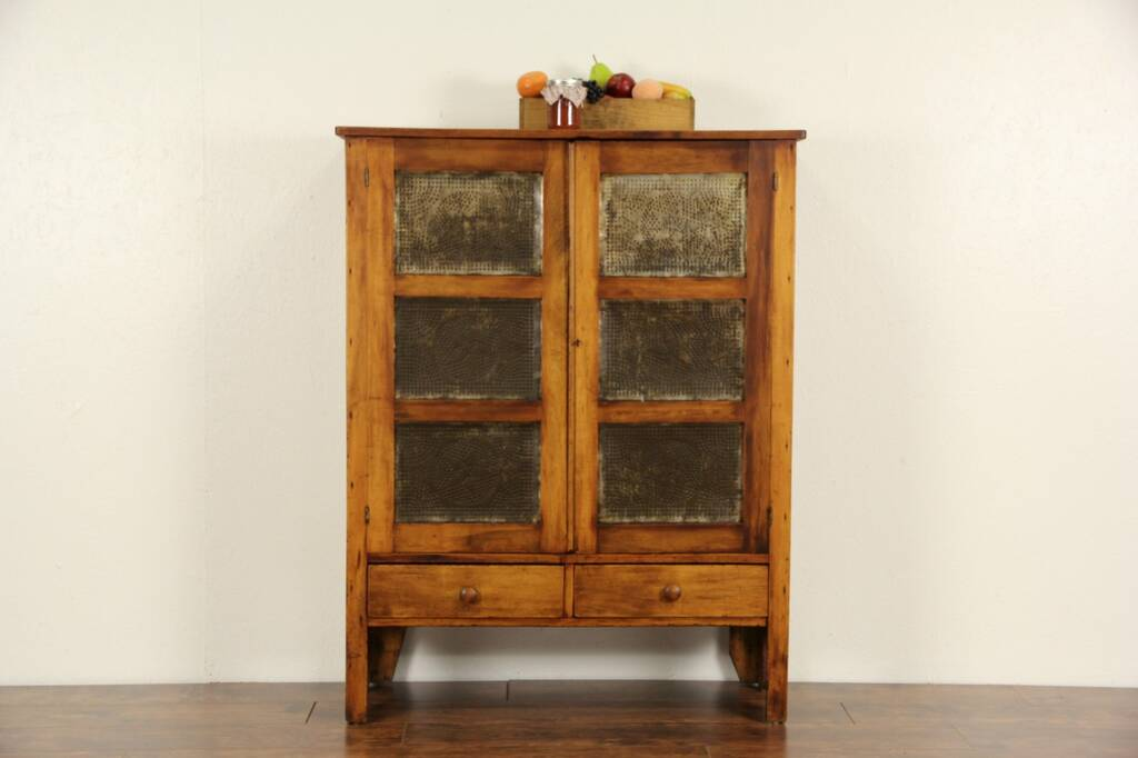 Sold Country Pine 1870 Antique Pie Safe Cupboard