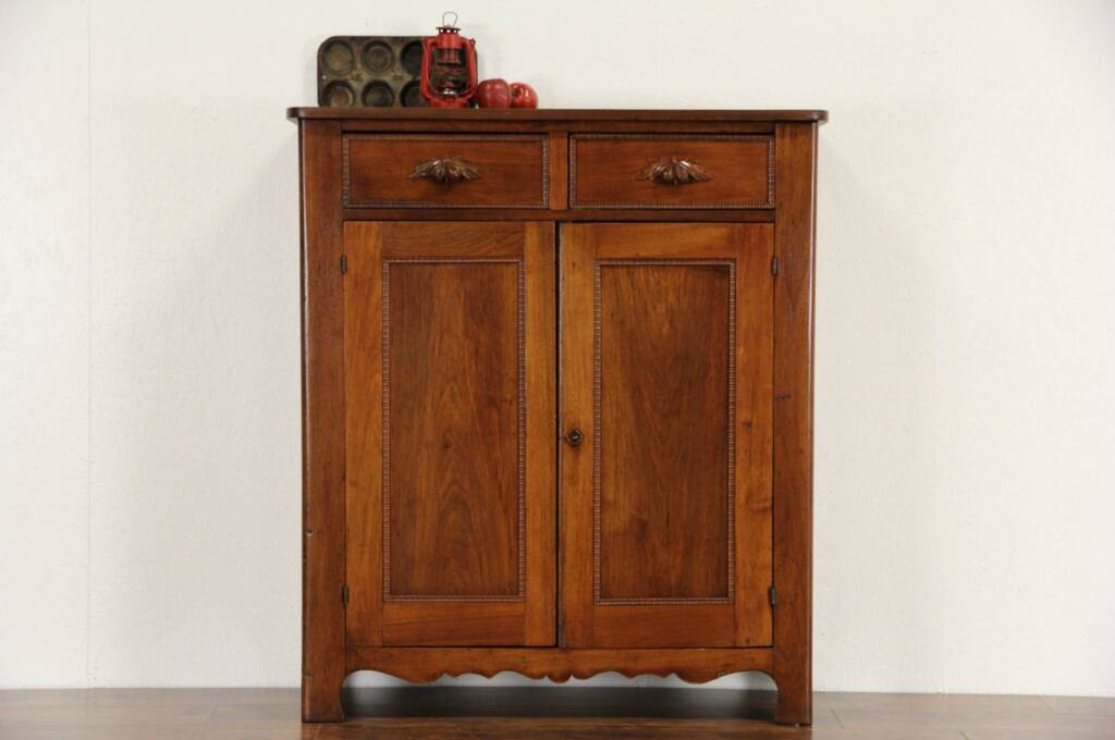 Sold Victorian Walnut 1870 Antique Pantry Jelly Cupboard