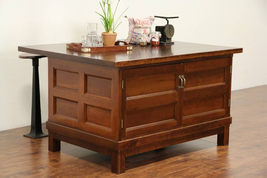 installing kitchen island sold cherry antique 1890 s paneled counter or 1890