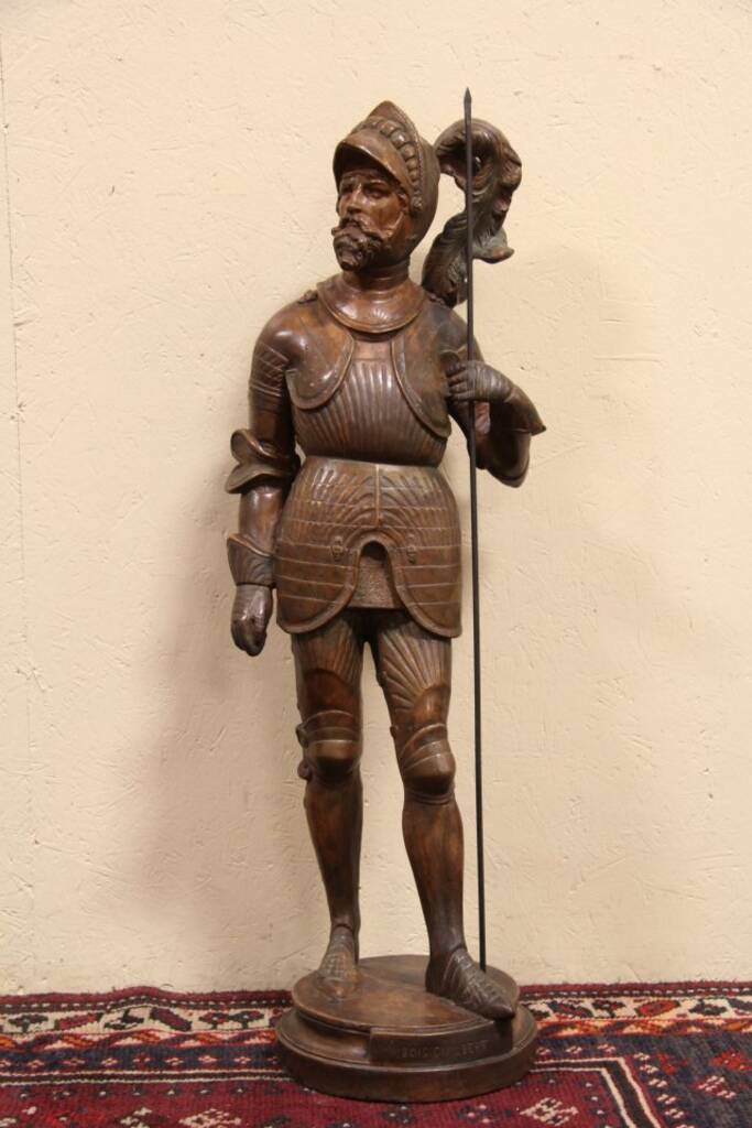 Sold Knight Sculpture Bois Guilbert 1900 Antique