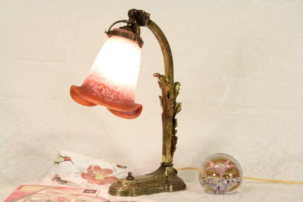 Sold Bronze Antique 1910 Desk Lamp Quot Rethondes Quot Signed