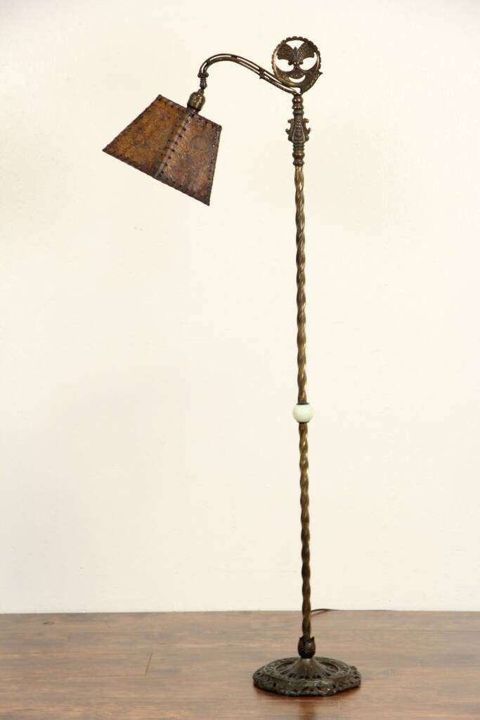 Sold Bridge Reading Antique 1915 Floor Lamp Original