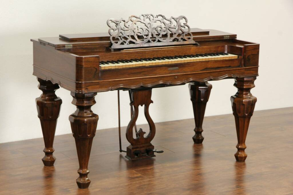 Sold Rosewood 1860 Antique Melodeon Organ Signed Linsley Of Conn Harp Gallery Antique