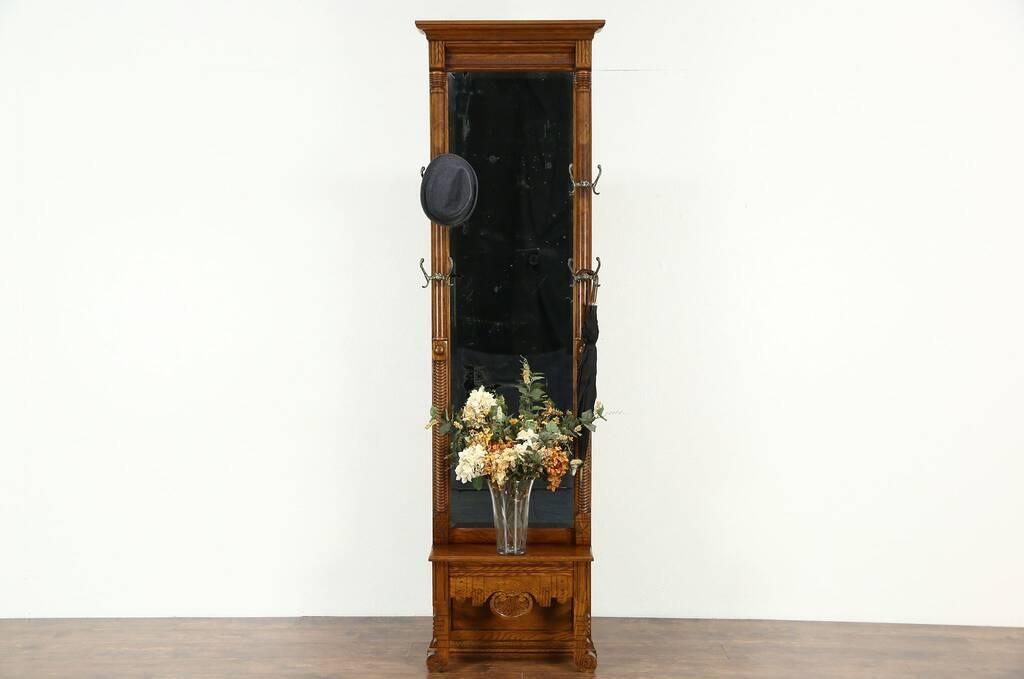 Antique Foyer Mirror : Sold victorian eastlake oak antique pier hall or