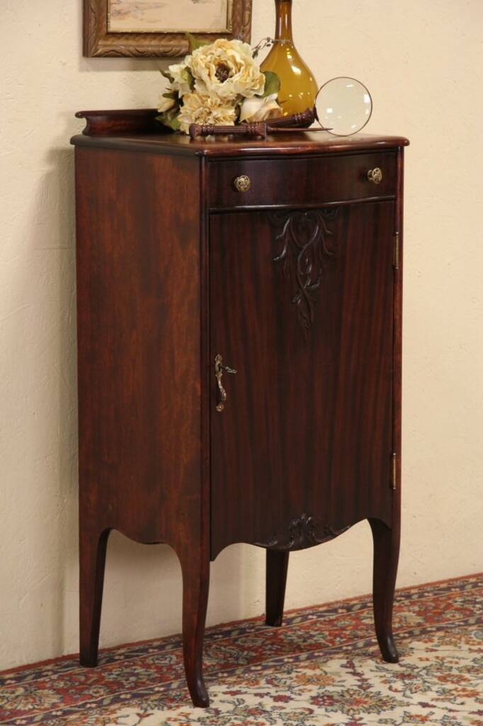Sold Music Cabinet 1900 Antique Mahogany Harp Gallery