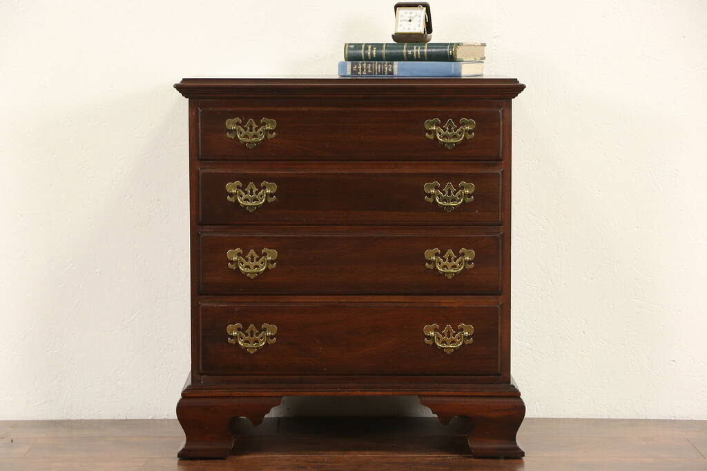 Sold Ethan Allen Signed Cherry Vintage Nightstand Lamp