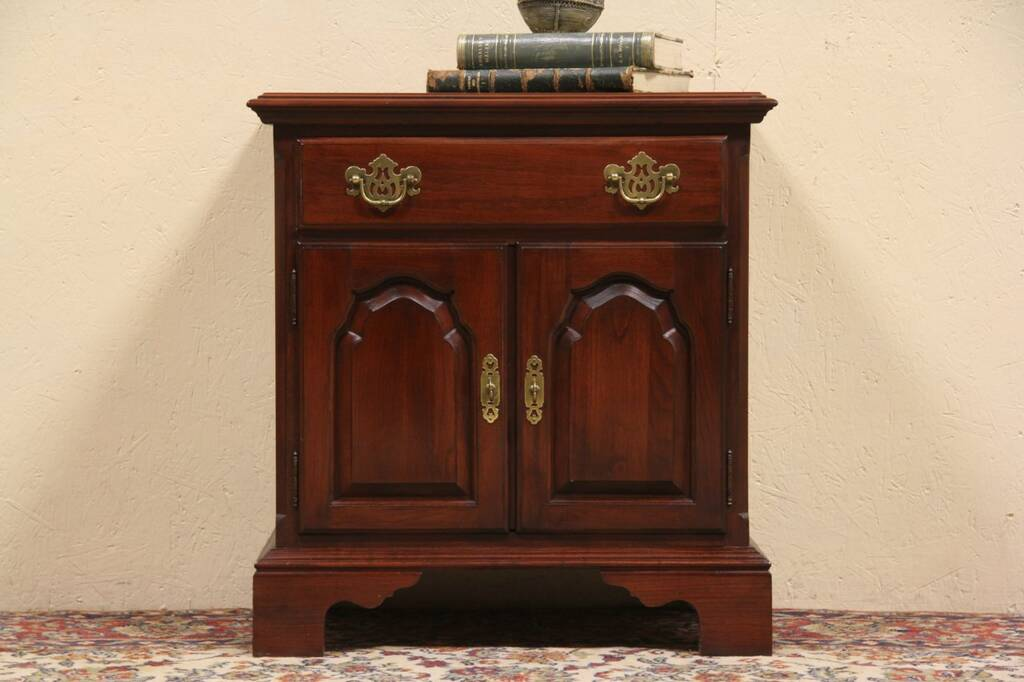 Sold Knob Creek Cherry 1992 Bedside Chest Or Nightstand Harp Gallery Antique Furniture