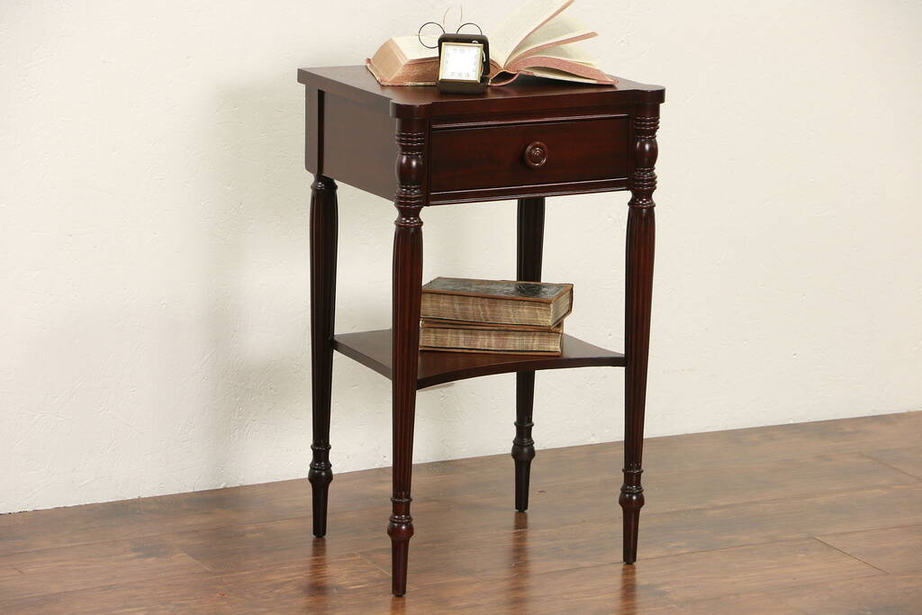Sold Traditional Sheraton Mahogany Nightstand 1950