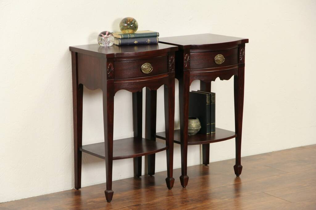 Sold Pair Of 1940 S Vintage Georgian Style Mahogany